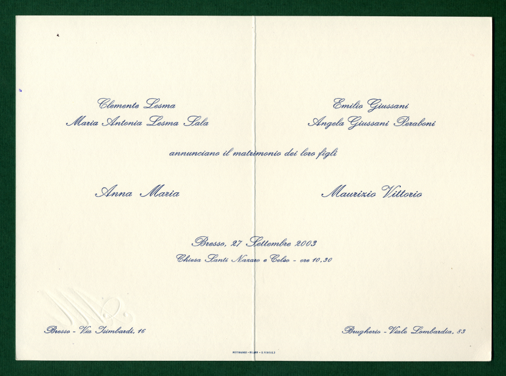 Partecipazioni Matrimonio Inglese.La Tipografia Partecipazioni Di Nozze E Inviti