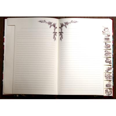 quaderni di ricette in carta decorata e tela